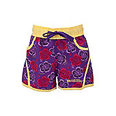 Hawaiian Kids Boardshorts Swim Summer Quick Drying Surf Board Shorts - Purple