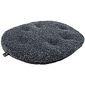 P & L Superior Pet Beds Machine Washable Oval Sherpa Fleece Dog Cushion Pad - Charcoal Fleck - 2 (10cm H x 58cm W x 76cm)