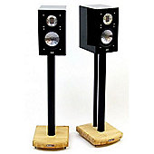 MOSECO 6 Black and Bamboo Speaker Stands