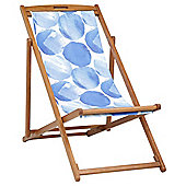 Wooden Deckchair, Blue Spots