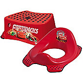 Disney Cars Toddler Toilet Training Seat & Step Stool Combo - Red