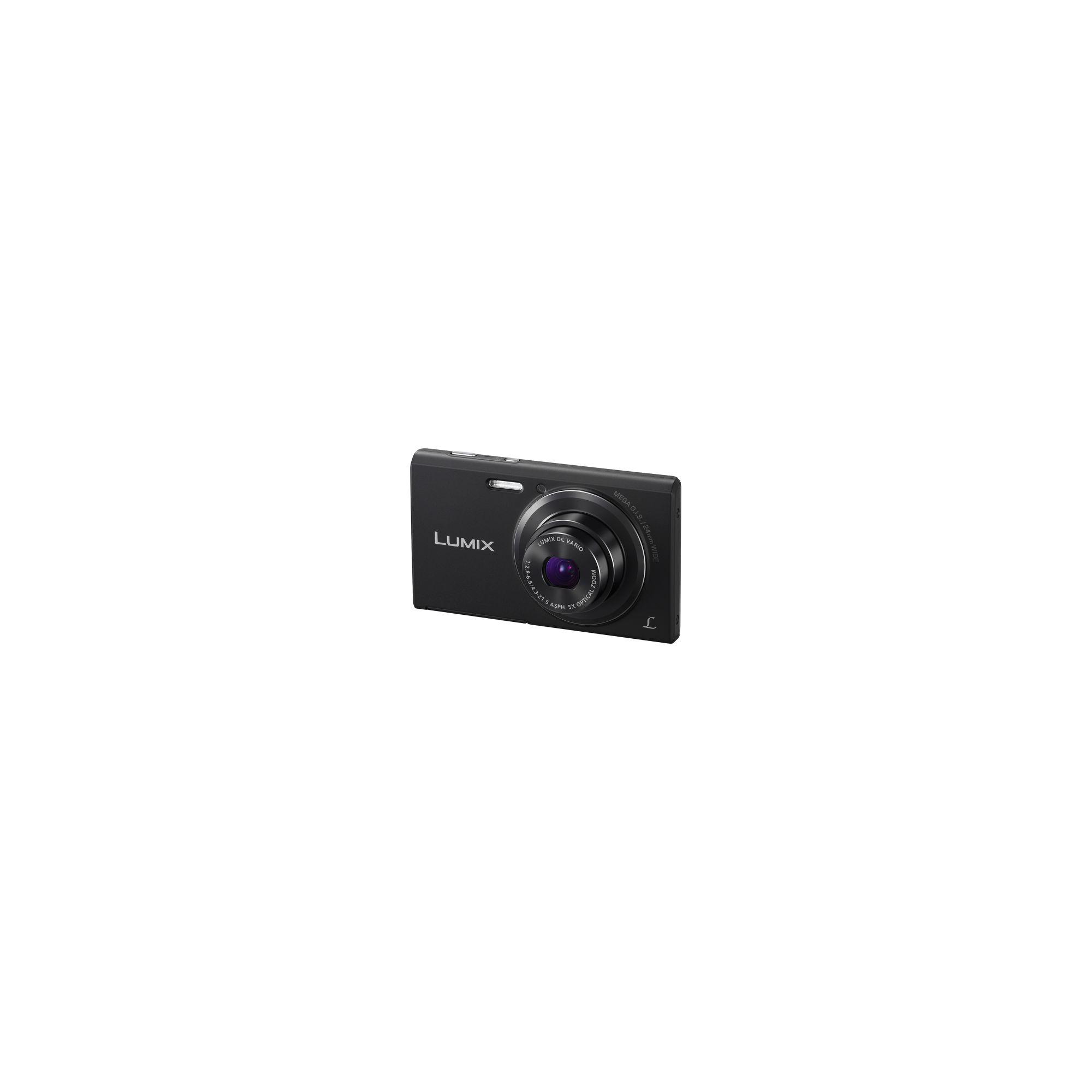 Panasonic Lumix FS50 Digital Camera, Black, 16MP, 5x Optical Zoom, 2.7 inch LCD Screen