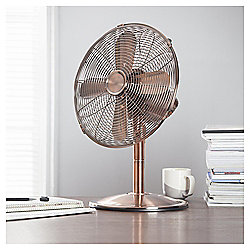 "Tesco DF1215C 12"" Metal Desk Fan Copper"