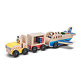 Melissa Doug Plane and Luggage Carrier Set