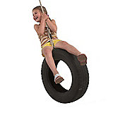 Classic Childres's Rope and Tyre Swing with Soft and Waterproof Polyhemp Rope