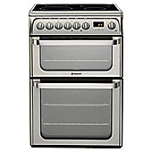 Hotpoint Ultima Electric Cooker with Electric Grill and Induction Hob, HUI611 X - Stainless steel