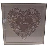 Love Heart framed Wallart