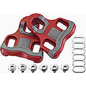 Acor Look Keo Compatible Floating Pedal Cleats: 0 Degree.