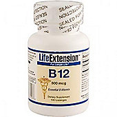 Life Extension B12 500mcg 100 Lozenges