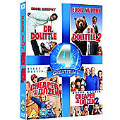Dr Dolittle 1&2 & Cheaper By The Dozen 1&2 (DVD Boxset)