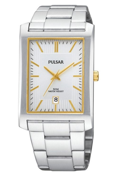Pulsar Gents 2 Tone Bracelet Watch PXDB33X1