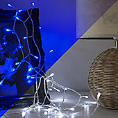 40 Blue & White LED Colour Changing Battery Fairy Lights