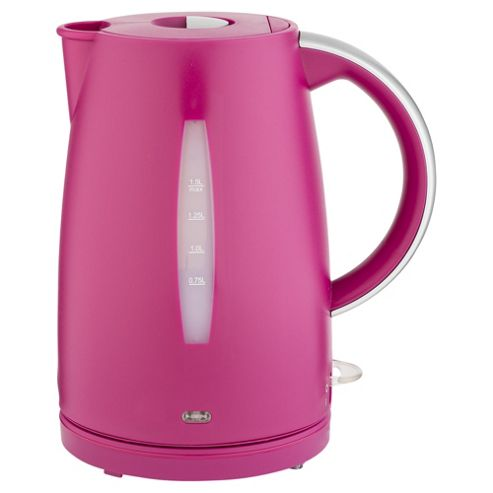 buy tesco plastic jug kettle 1 5l pink from our jug. Black Bedroom Furniture Sets. Home Design Ideas
