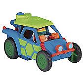 Teenage Mutant Ninja Turtles Half-Shell Heroes Vehicle And Figure - Dune Buggy With Mikey