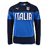 2014-15 Italy Puma FIGC Sweat Top (Blue-Navy) - Kids
