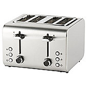 Tesco 4 Slice Toaster - Stainless Steel