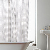 Modern Makeover 3D Hookless Shower Curtain in Clear