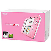 2DS Console Pink and White