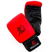Bruce Lee Dragon Deluxe Boxing Bag Gloves Leather - Red
