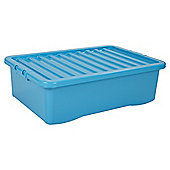Tesco Plastic 32L Underbed Storage Box, Blue