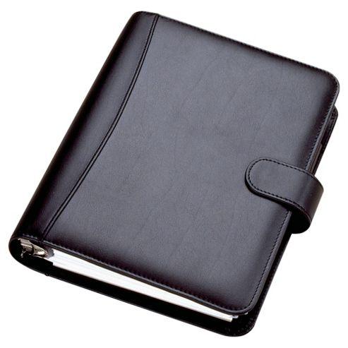 Collins Chatsworth A5 Desk Organiser, Leather Effect,Black