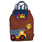 Children's Brown Construction Backpack