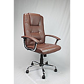 Enduro Managers High-Back Executive Chair - Brown