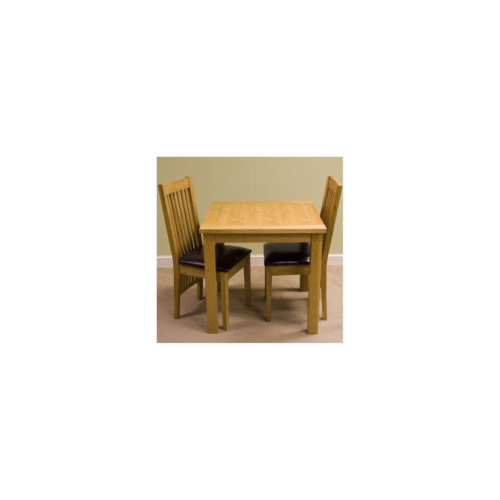 G&P Furniture Lyon Oak 3-Piece Small Fixed Top Dining Set at Tescos Direct