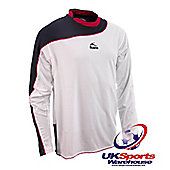 Bukta Odyssey Long Sleeve Football Shirts - White / Navy / Red Youth L
