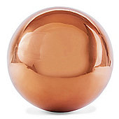Polished Copper Stainless Steel 25cm Garden Sphere Gazing Ball Ornament