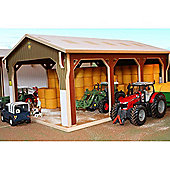 Brushwood Bt6000 Big Bale Shed - 1:32 Farm Toys