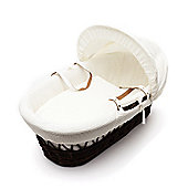 Kinder Valley Dark Wicker Moses Basket (Waffle Cream)