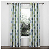 Tesco Saturn Unlined Eyelet Curtains - Soft teal