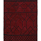 Think Rugs Fusion Red Tufted Rug - 120 cm x 170 cm (3 ft 9 in x 5 ft 7 in)