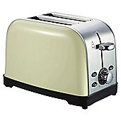 Tesco 2 Slice SS Toaster - Cream
