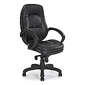 Eliza Tinsley Stylish leather faced executive armchair - Black