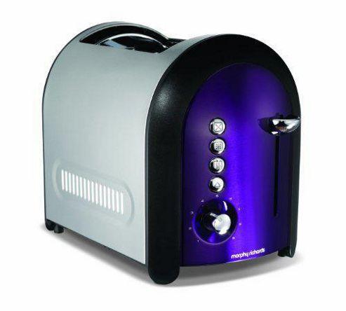 Morphy Richards 77-706 Meno Lidded 2 Slice Toaster - Plum
