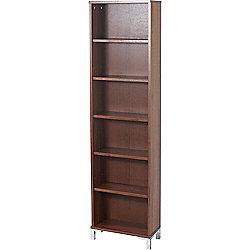 Tower - Tall Narrow Media Storage / Display Shelves - Walnut