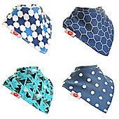 Zippy Baby Boy Bandana Dribble Bib 4 pack Simply Blue