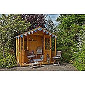 8ft x 8ft Hollington Summerhouse - 8 x 8 Assembled Garden Wooden Summerhouse 8x8