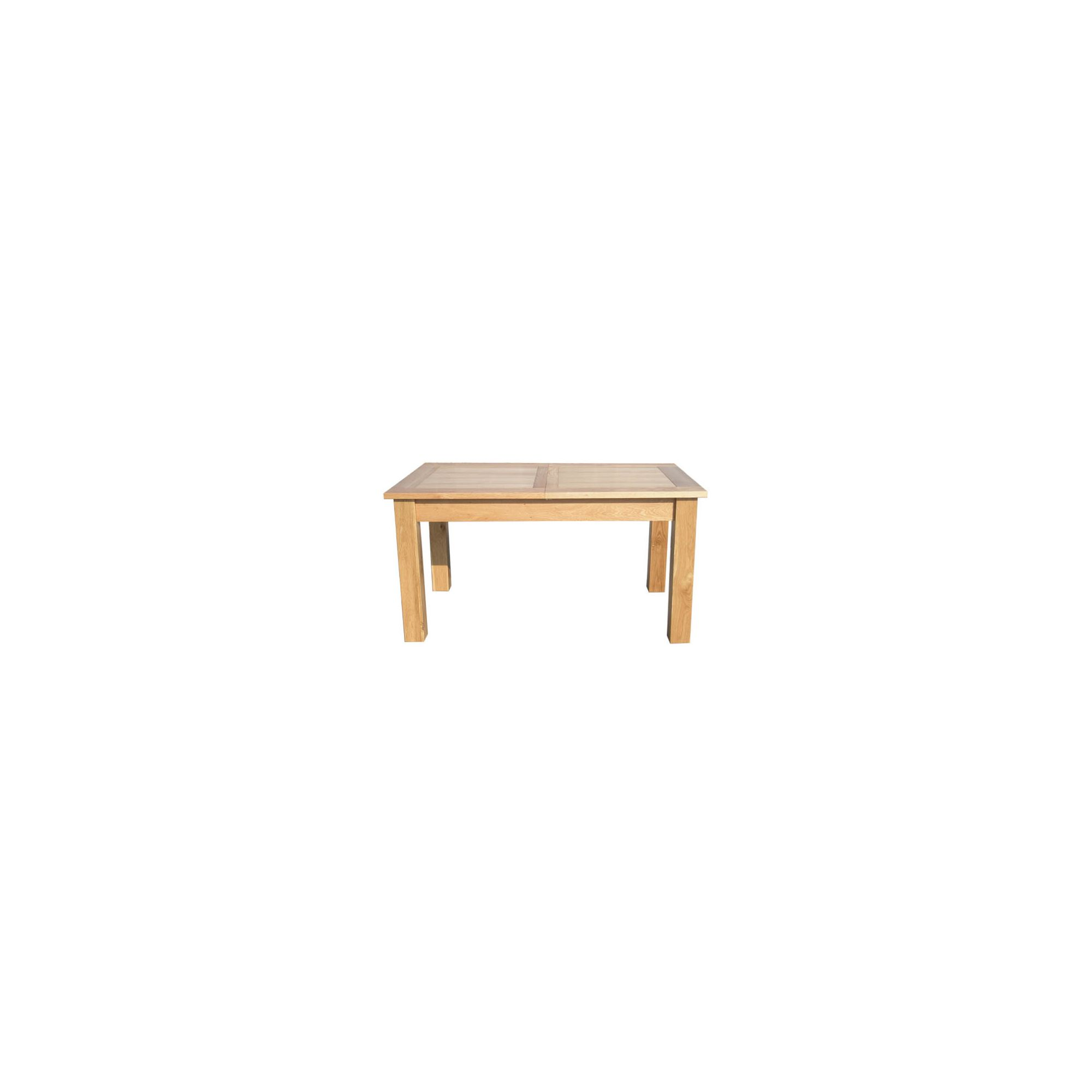 Home Zone Furniture Lincoln Solid Oak Extendable Dining Table - 150-200cm