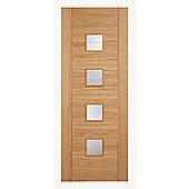 LPD Doors Vancouver Oak Small Glazing Interior Door - 198.1 cm H x 83.8 cm W x 3.5 cm D