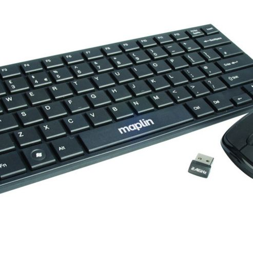 Mini Wireless Keyboard and Mouse Deskset