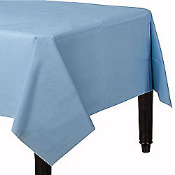 Baby Blue Plastic Tablecover - 1.4cm x 2.8cm