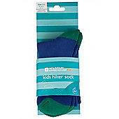 Hiker Sock Kids Boys Girls Childrens Twin Pack Walking Hiking Socks - 2 Pairs - Green