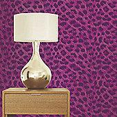 Leopard Print Purple Wallpaper 10m