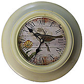 Wicker Valley Bird Wall Clock