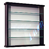 Techstyle Solid Wood 4 Shelf Glass Wall Display Cabinet