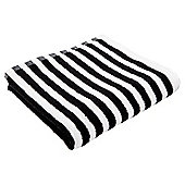 Tesco Black & White Stripe Hand Towel