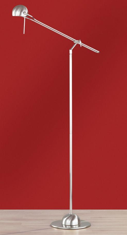 Wofi Halogen Floor Lamp in Nickel